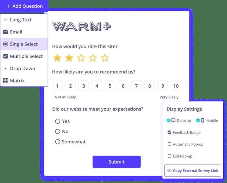 Voice of the Customer Feedback Surveys